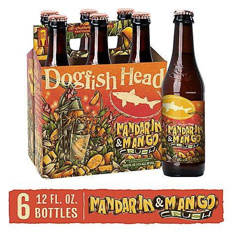 Dogfish Head Beer Smoovie Seasonal Art Series Mango Pack In Bottles - 6-12 Oz