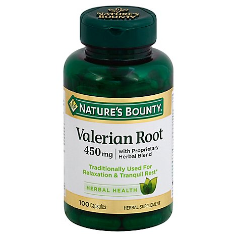 Nb Valerian Root 450 Mg Caps - 100 Count