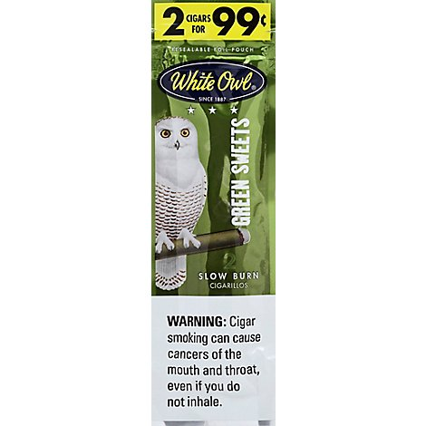 White Owl Cigarillo Ff Grn Swt - 2 Package