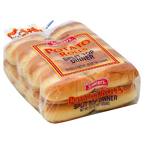 Schmidt Potato Split Top Dinner Rolls 16 Pack 20 Ounce - 20 Oz