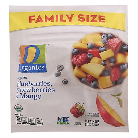 O Organics Organic Blueberries Strawberries & Mango - 48 Oz