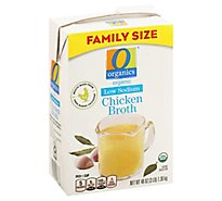 O Organics Organic Broth Low Sodium Chicken Flavored - 48 Oz