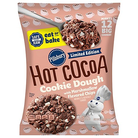 Pillsbury Ready To Bake! Cookies Limited Edition Hot Cocoa 12 Count - 14 Oz