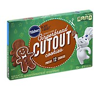 Pillsbury Ready To Bake! Cookies Gingerbread Cutout Pre Cut 12 Count - 8.50 Oz