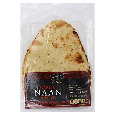 Select Naan Garlic Flat Bread - Each