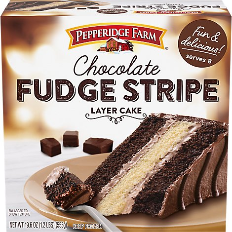 Pepperidge Farm Cake 3 Layer Fudge Stripe - 19.6 Oz
