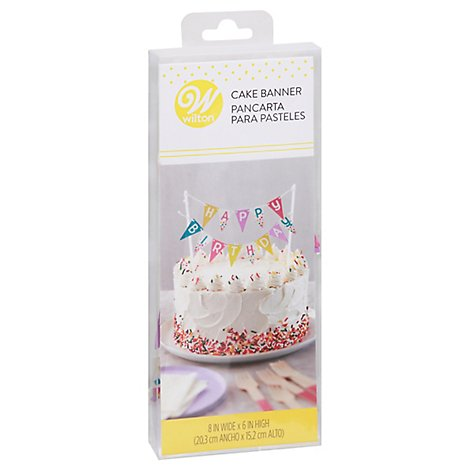 Wilton Cake Banner Happy Birthday Small - Each