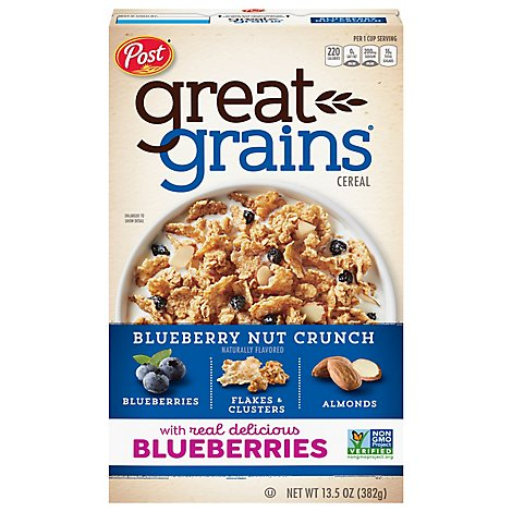 Great Grains Cereal Blueberry Mornings - 13.5 Oz