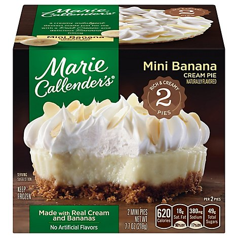 Marie Callenders Pie Banana Cream 2 Count - 7.7 Oz