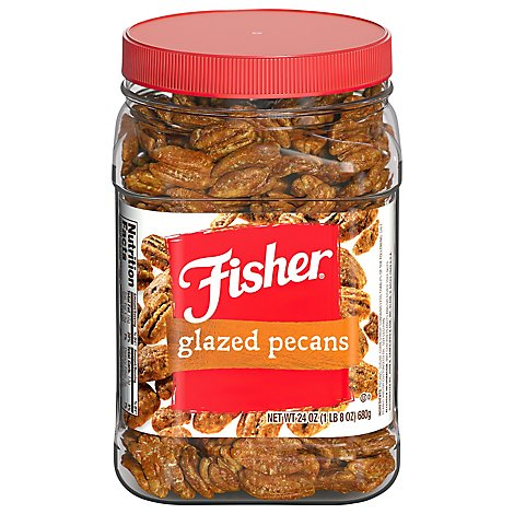 Fisher Pecans Glazed - 24 Oz