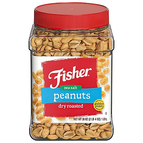 Fisher Peanuts Sea Salt Dry Roasted Golden Roast - 36 Oz