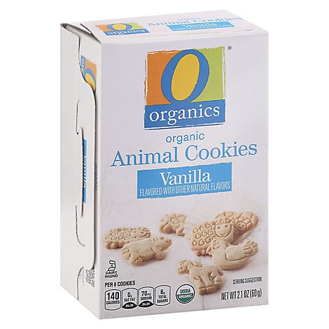 O Organics Cookies Organic Animal Vanilla - 2.1 Oz