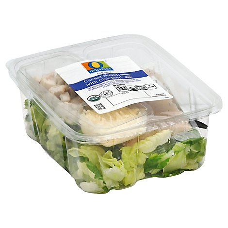 O Organics Salad Caesar With Chicken - 6.75 Oz