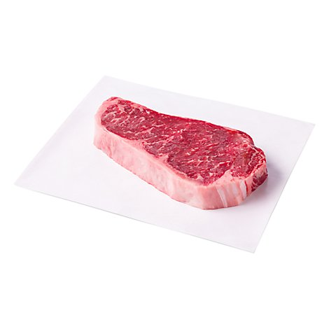 Meat Service Counter Open Nature Natural Angus Beef Top Loin Steak Boneless Grass Fed - 1 LB