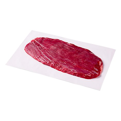 Meat Service Counter Open Nature Beef Grass Fed Angus Flank Steak In The Bag - 1.50 Lbs.
