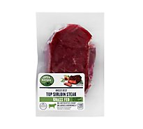 Meat Service Counter Open Nature Beef Grass Fed Angus Top Sirloin Steak - 1 LB