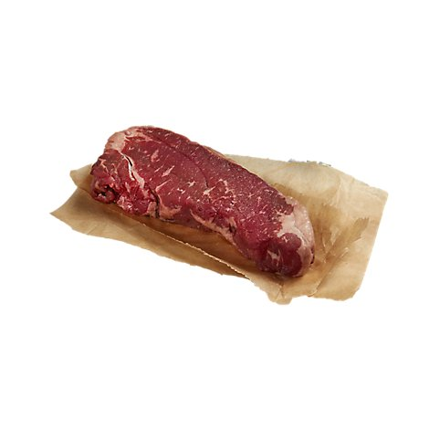 Meat Service Counter USDA Choice Prime Beef Loin New York Strip Steak Boneless - 1 LB