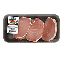 Meat Service Counter Pork Chop Loin Top Loin Chops Boneless - 1.50 Lbs.