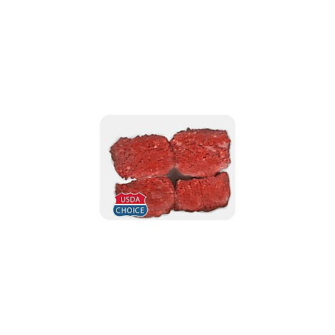 Meat Service Counter USDA Choice Beef Cubed Steak Blade Tenderized - 2 LB
