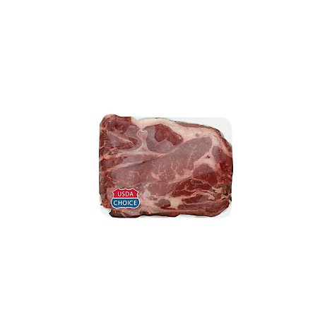 Meat Counter Beef USDA Choice Chuck 7-Bone Roast Service Case - 4 LB