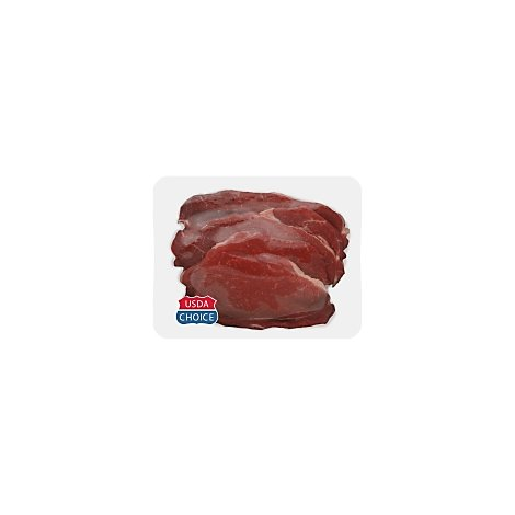 Meat Service Counter USDA Choice Beef Chuck Cross Rib Steak Boneless Thin - 1 LB