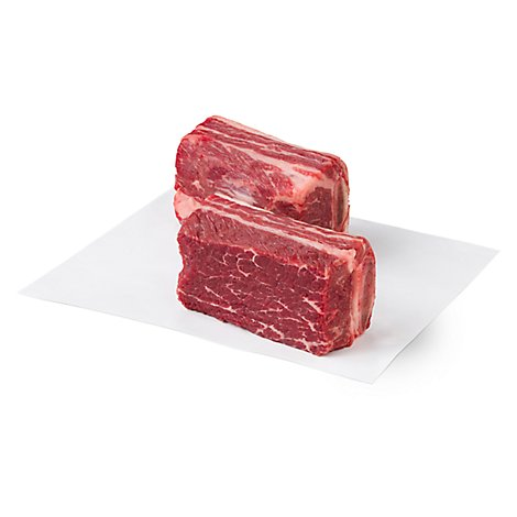 Meat Service Counter USDA Choice Beef Chuck Short Ribs - 2 LB