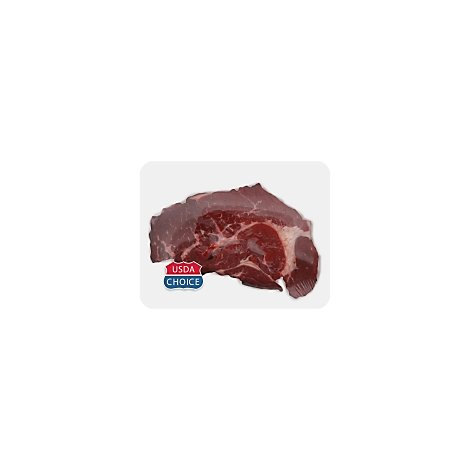 Meat Service Counter USDA Choice Beef Chuck Steak Boneless Thin Cut - 1.50 Lbs.