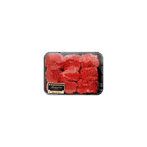 Meat Counter Beef USDA Choice For Stew Blade Tenderized Service Case - 1 LB