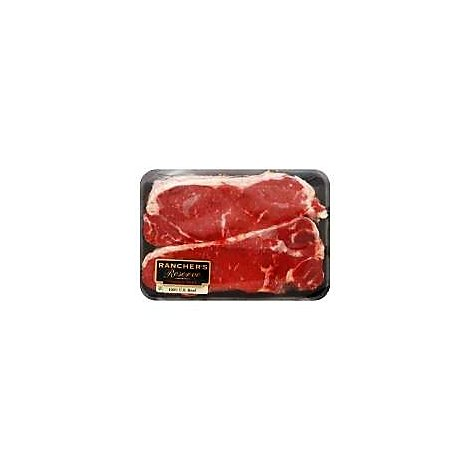 Meat Service Counter USDA Choice Beef Top Loin New York Strip Steak Seasoned - 1 LB