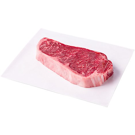 Meat Service Counter USDA Choice Beef Steak Top Loin New York Strip Boneless 1 Count - 1.50 Lb