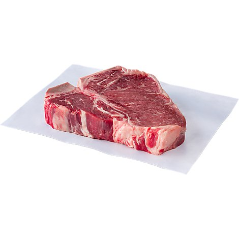Meat Counter Beef USDA Choice Steak Loin T Bone Service Counter Service Case 1 Count - 2.00 LB