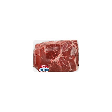 Meat Counter Beef USDA Choice Top Sirloin Whole Service Case - 3.50 LB
