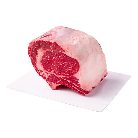 Meat Service Counter USDA Choice Beef Ribeye Roast Bone In - 5 Lb