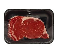 Meat Counter Beef USDA Choice Steak Ribeye Bone In Service Case 1 Count - 2.00 LB