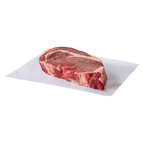 Meat Service Counter USDA Choice Beef Steak Ribeye Boneless 1 Count - 1.50 Lbs.