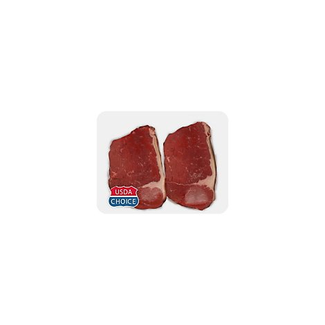 Meat Counter Beef USDA Choice Bottom Round Steak Service Case - 1 LB