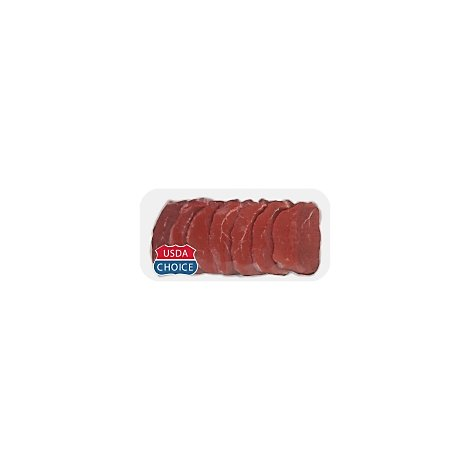 Meat Service Counter USDA Choice Beef Eye Of Round Steak Thin Cut - 1 LB