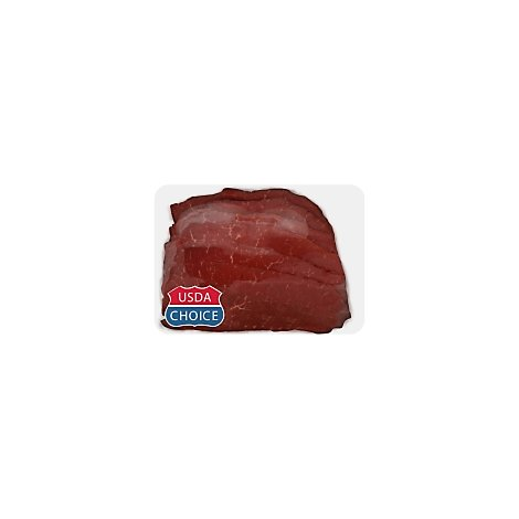 Meat Service Counter USDA Choice Beef Top Round Steak Thin Cut - 1 LB