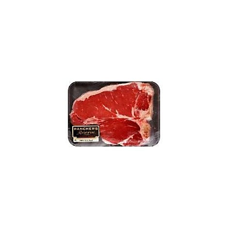 Meat Service Counter USDA Choice Beef Loin Porterhouse Steak Dry Aged - 1 LB