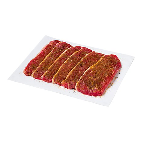 Meat Service Counter Beef Flap Carne Asada Marinated - 2 LB
