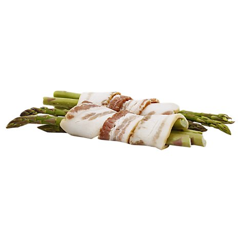 Meat Service Counter Sides Asparagus Bacon Wrapped - 1.00 LB