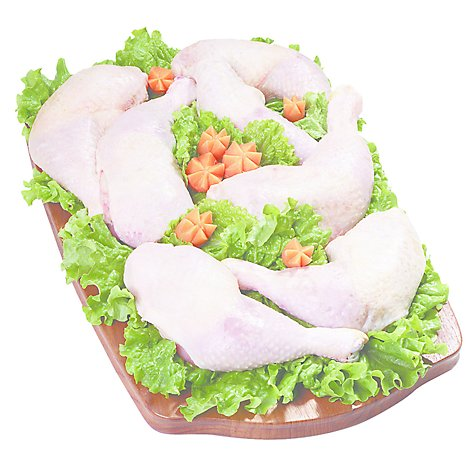 Meat Service Counter Chicken Leg Quarters Smkhse Bbq Seasoning - 2.50 LB
