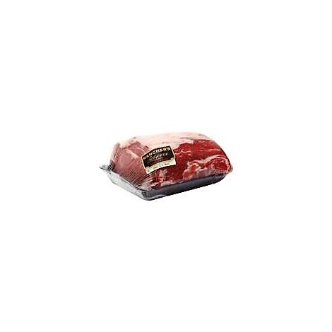 Meat Counter Beef USDA Choice Loin Strip Bone In Whole Trimmed Service Case - 4.50 LB
