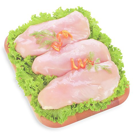 Meat Counter Chicken Breast Boneless Skinless Organic Service Case - 1.00 LB