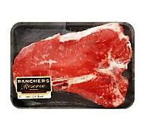 Meat Service Counter USDA Choice Beef Loin T-Bone Steak Over 3 Lbs - 1.50 Lbs.