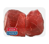 Meat Service Counter USDA Choice Beef Sirloin Petite Steak Over 3lbs - 1.50 Lbs.