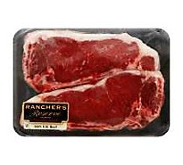 Meat Service Counter USDA Choice Beef Top Loin New York Strip Steak Bone In - 2.50 LB
