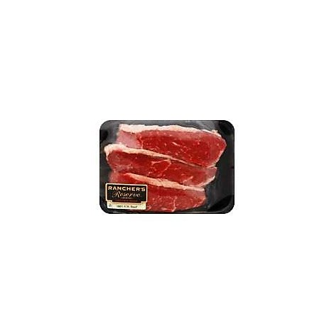 Meat Counter Beef Seasoned Beef Tri Tip Steaks Service Case - 1 LB