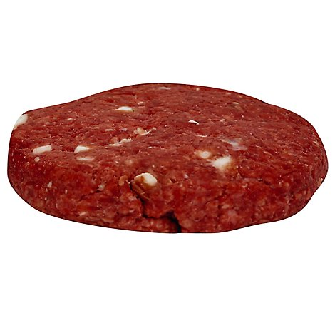 Meat Counter Beef Ground Beef Pub Burger Bleu & Pepper Service Case 1 Count - 6 Oz