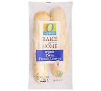 O Organics Organic Bread Loaves Twin French - Each